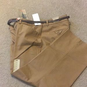 Khaki capris by Docker New